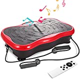 Cheap ANCHEER Mini Fitness Vibration Platform with Built-in USB Speaker, Straps and Remote Control Included