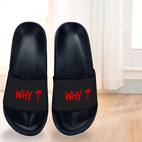 Non Womens Quick Drying WHY Slip Couple Letters Slippers 1wTqCHPfn