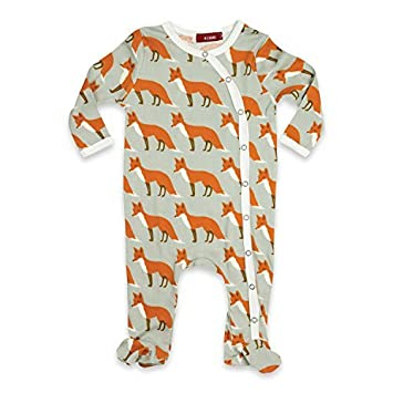 dc7444250 Amazon.com   Milkbarn (Zebi Baby) Long Sleeve Footed Romper