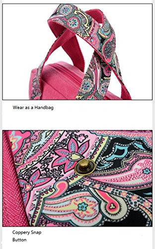 Travel for Lightweight Teen Shoulder Rose Women Bag Handbags Small Canvas Mytbag Girls Purse Women's Crossbody wqRTXSAS