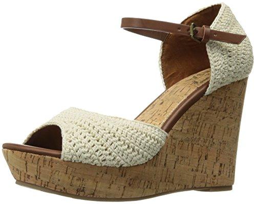 MIA Women's Hanah Wedge Sandal, Off White, 6.5 M (Mia Wedge Shoes)