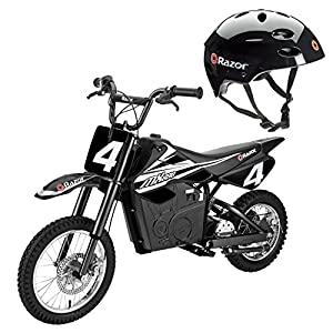 Razor MX650 Electric Dirt Rocket Motor Bike for Kids 12 & Up + V17 Youth Helmet