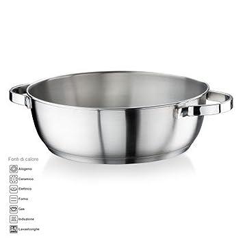 Sartén diámetro: 24 cm de 2 lt Acero Inoxidable Satinado la pintinox Modelo Royal MADE in ITALY también para Cocina de inducción: Amazon.es: Electrónica