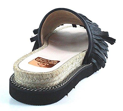 Kanna Shoes | Mammut Mekong | Fransen Sandale - schwarz Schwarz