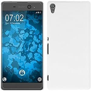 PhoneNatic Funda Rígida para Sony Xperia XA Ultra - Goma Blanco - Cover Cubierta Cover