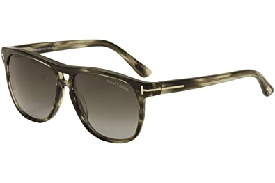91316e60b0e9d Amazon.com  Tom Ford 0288 Gray Havana Frame Gray Gradient Lens 55Mm ...