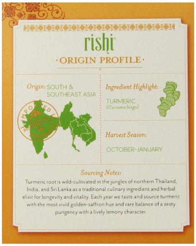 Rishi Tea Organic Turmeric Ginger Tea Bags, 15 Count  (Pack of 6) by Rishi Tea (Image #4)