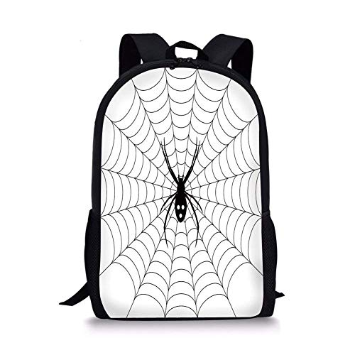 ZOZGETU backpack School Bags Spider Web,Poisonous Bug Venom