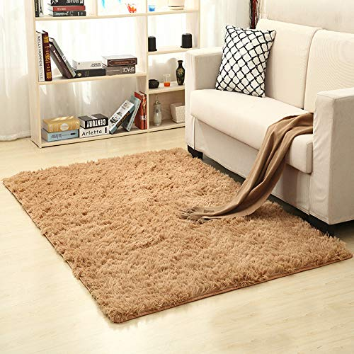 (Superior Modern Collection Area Rug, Fluffy Anti-Skid Shaggy Area Rug Dining Living Room Carpet Comfy Bedroom Floor 50X80cm,12)