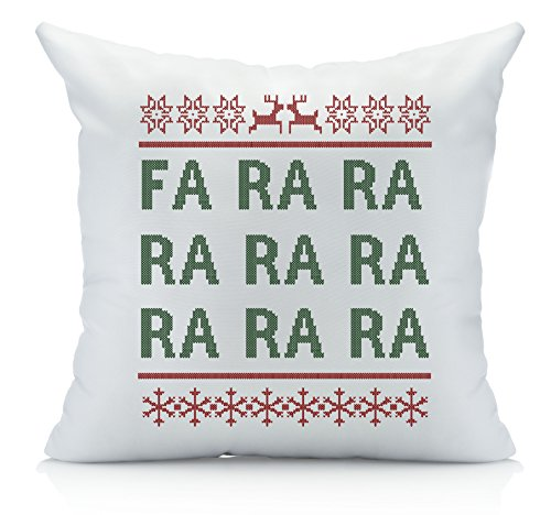 Oh, Susannah FA RA RA Christmas Throw Pillow Cover (1 18 x 18 Inch, Green, Red) Christmas - That Start With Y Brands Famous