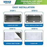 "Complete Premium Vent Register Filters Kit - 72"" x 16"" Electrostatic Media & 120"" of Tape (30+ Filters per Roll) for HVAC, AC & Heating Intake Registers & Grilles to Reduce Dust and Allergy"