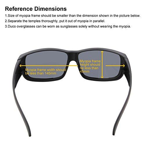 vue dessus 8956 Duco Cadre polarisées des porter par Noir verres Lunettes myopie Gris de pour Objectif II8xPgH