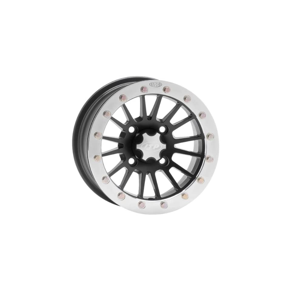 ITP SD Series Single Beadlock Wheel   12x7   4+3 offset   4/156   Matte Black , Bolt Pattern 4/156, Rim Offset 4+3, Wheel Rim Size 12x7, Color Black, Position Front/Rear 1228528536B