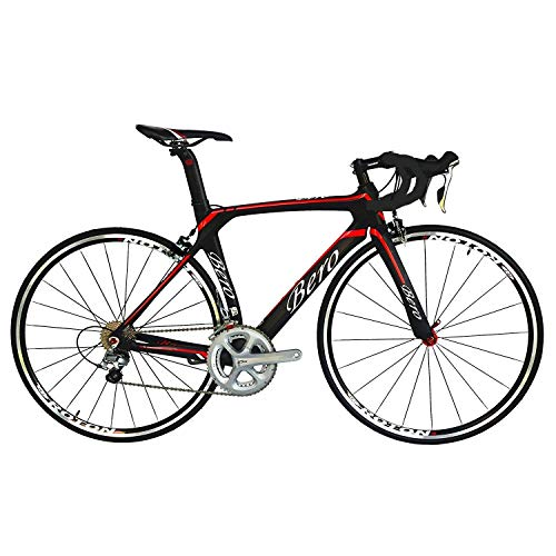 - BEIOU 700C Road Bike Shimano 105 5800 11S Racing Bicycle T800 Carbon Fiber Bike Ultra-Light 18.3lbs CB013A-2 (Matte Black&Red, 520mm)