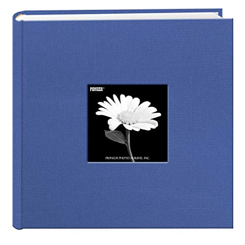 Fabric Frame Cover Photo Album 200 Pockets Hold 4x6 Photos, Sky Blue