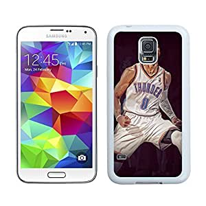 New Unique DIY Antiskid Skin Case For Samsung S5 Russell Westbrook Samsung Galaxy S5 White Phone Case 383