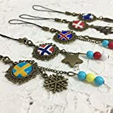 Dreamcosplay Axis Powers Hetalia Nordic Logo 5PCS Key chains Pendants Cosplay