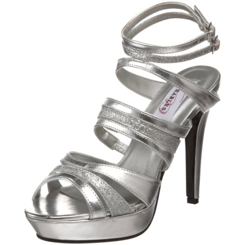 (Dyeables Women's Anya Platform Sandal,Silver Metallic,8 B US)