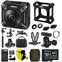 Nikon Keymission 360 Wi-Fi 4K Action Camera with 64GB card and Adventure Kit