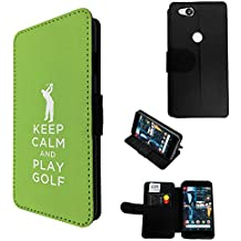 002787 - Keep Calm And Paly Gold Quote Design Google Pixel 2 (2017) Flip Case Purse pouch Stand Cover