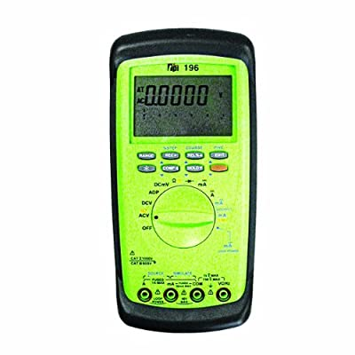 TPI 196 High Resolution Process Control Digital Multimeter with 50000 Count Display, 50 Megaohms Resistance, 750V AC, 1000V DC Voltage, 1A AC/DC Current
