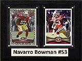 "NFL San Francisco 49ers Navarro Bowman Two Card Plaque, Brown, 6"" x 8"""