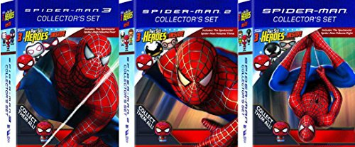 Spider-Man Ultimate Collector's Set 3X Double Feature W/ 9 Pint- Sized Funko Hero's Action Figures Exclusive Movie/Cartoon Bundle