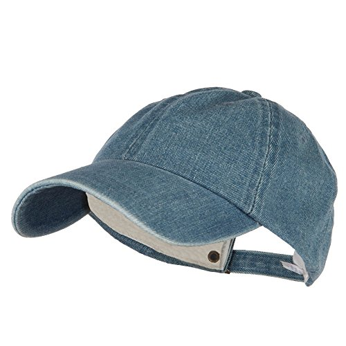 MG Womens Cotton Baseball Cap Hat (Light Blue Denim)