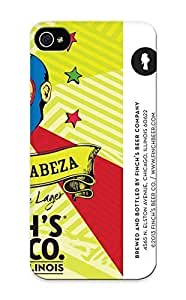 Fireingrass Case Cover Protector Specially Made For Iphone 5/5s Beer Alcohol Drink Poster