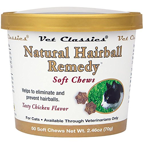 Natural Hairball Remedy for Cats (50 Soft Chews) by Natural Hairball Remedy