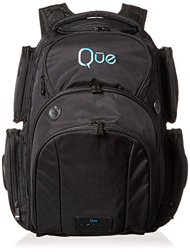 Que Powerbag Backpack - Built In Charging Station And Bluetooth Speaker. Rugged, Durable and Spacious