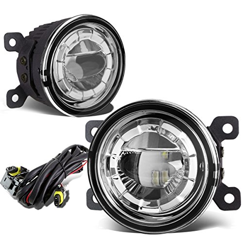 - Pair of 3.5 inches Round 2 x 5W LED Projector Bumper Driving Fog Lights + Wiring (Clear Lens)