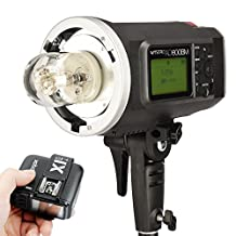 Godox Witstro AD600BM 600WS HSS 1/8000s 2.4G Wireless Outside Studio Flash Light 8700mAh Battery to Provide 500 Full Power Flashes with X1T-C Wireless Flash Trigger