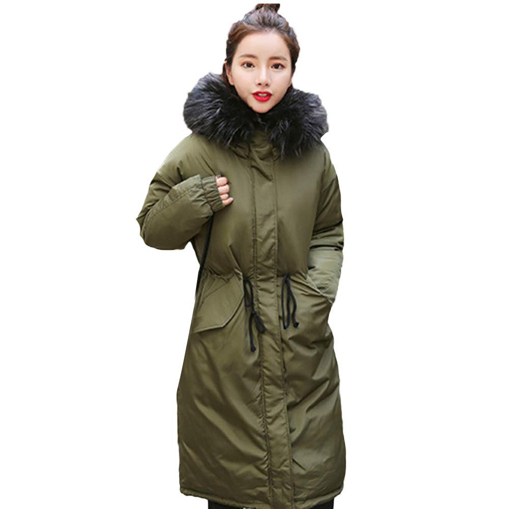 Luckycat Mujeres Solid Thicker Winter Slim Warm Lammy Jacket Hair Collar Coat Overcoat: Amazon.es: Ropa y accesorios