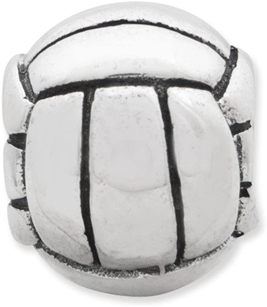 Jewelry Beads Themed Sterling Silver Reflections Volleyball Bead