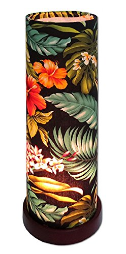Tropical Hawaiian Flower Ambient Electric Cylinder Lamp