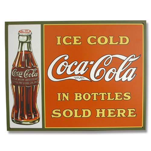 COKE Sold Here in Bottles Tin Sign 16W x 12.5H , 16x13 (Coke Bottle Tin)