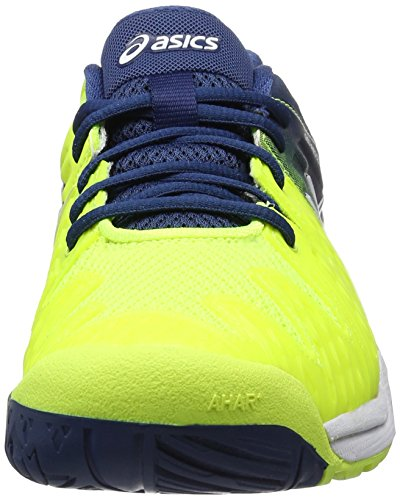 Asics Yellow White Scarpe Gel Uomo Resolution Poseidon Safety Ginnastica da 6 Giallo SZSrqx6