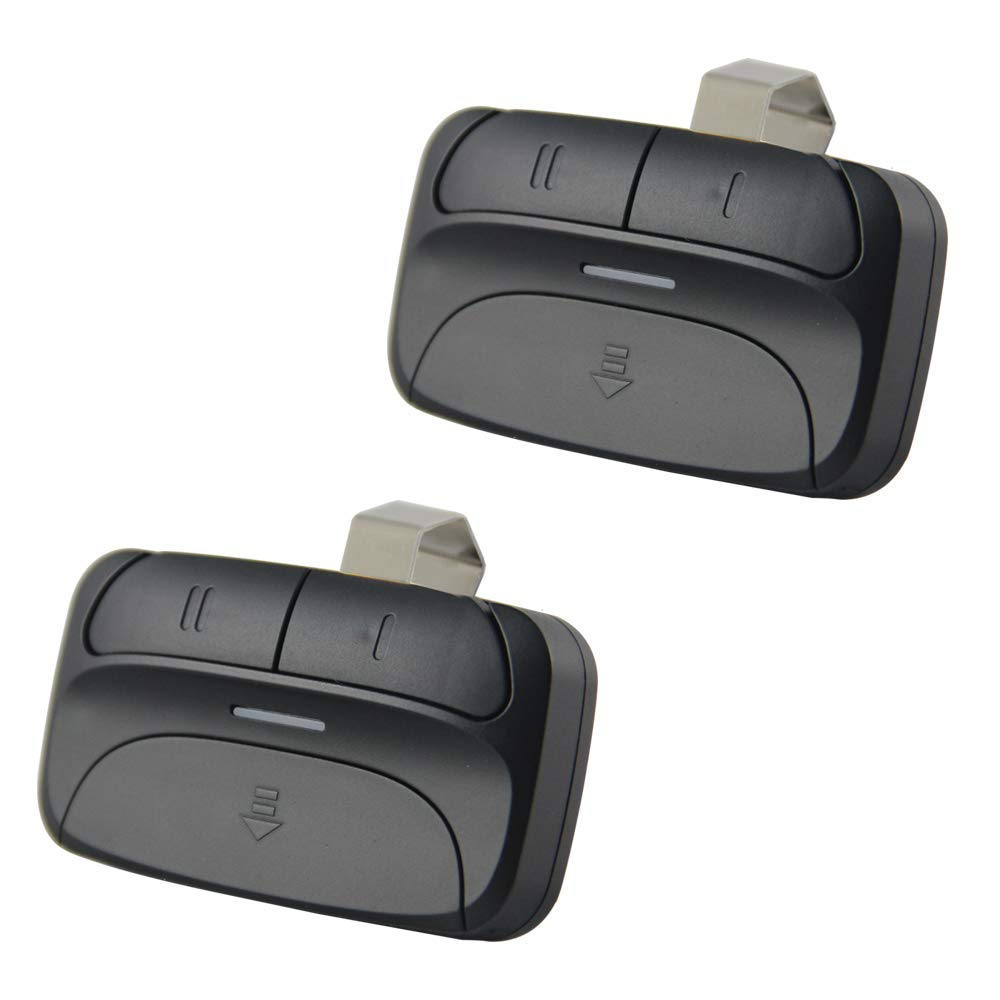 Universal Garage Door Opener Remote for Chamberlain Liftmaster 375LM 375UT KLIK1U Genie Linear and More - 2 Pack