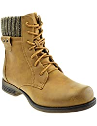 Elena 55 Womens Combat Ankle Boots Camel