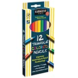 Sargent Art 22-7206-12 Count Triangle Colored Pencils