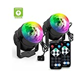 [2-PACK] BLISSO Party Lights Sound Activated Disco Ball Strobe Light,Xmas Party Lights,7Colors Stage Lights 3W LED Strobe Light for Bar Club DJ Karaoke Wedding Show Birthday Decoration Outdoor and Mo by INCON
