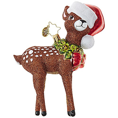 Radko Deer Christopher (Christopher Radko Oh, Deer Me! Animal Christmas Ornament)