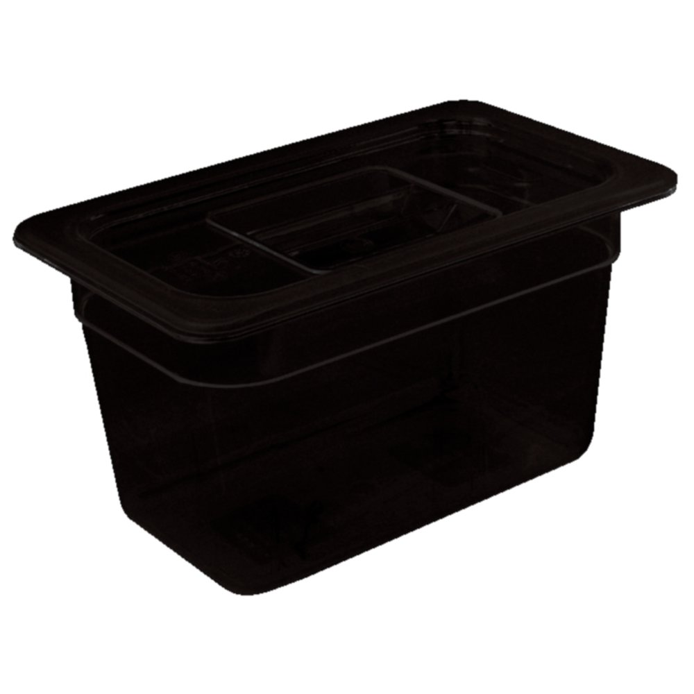 0.87L Vogue 1//9 Gastronorm Container Made of Polycarbonate in Black