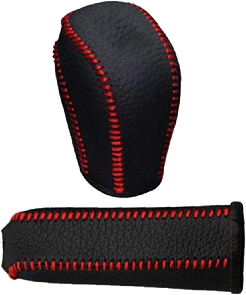1set Leder Schaltknauf Abdeckung Handbremse Abdeckungen Anti Slip Für Universal Auto Auto