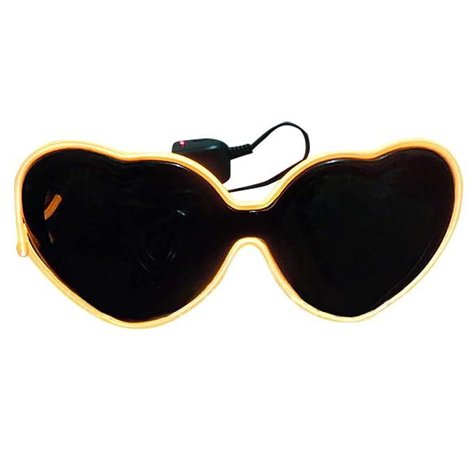👓👓Qiiueen Gafas para Hombres Y Mujeres, Gafas De Luz LED ...