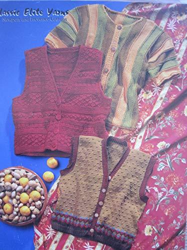 Elite Classic Cardigan - Classic Elite Knitting Pattern #819 Vest and Cardigan