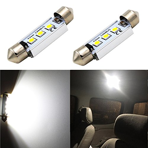 "Alla Lighting CANBUS Error Free 42mm (1.72"") High Power 3030 SMD Super Bright 6000K 211-2 212-2 569 578 White LED Bulb for Interior Festoon Map Dome License Plate Lights"