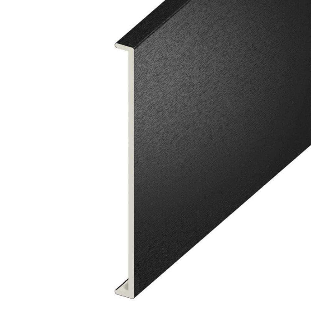 200mm Wide 5 Metre uPVC Fascia Cover Capping Board Black Ash 9mm Thick Free Postage