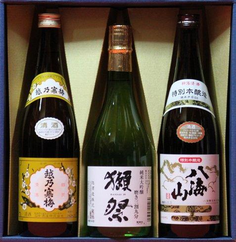 【ギフト】日本酒 越乃寒梅 白ラベル 獺祭(だっさい)純米大吟醸 磨き三割九分 八海山 本醸造 720mlセット ありがとうございます(シール) B00PJMV53K ありがとうございます(シール) ありがとうございます(シール)